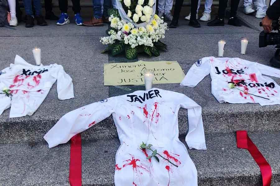 Protestas en Puebla por asesinato de estudiantes