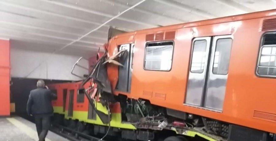 Choque de trenes deja 41 lesionados en Tacubaya