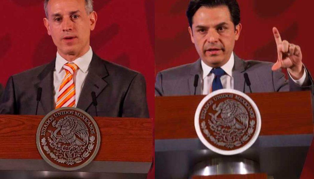 López Gatell y Zoé Robledo