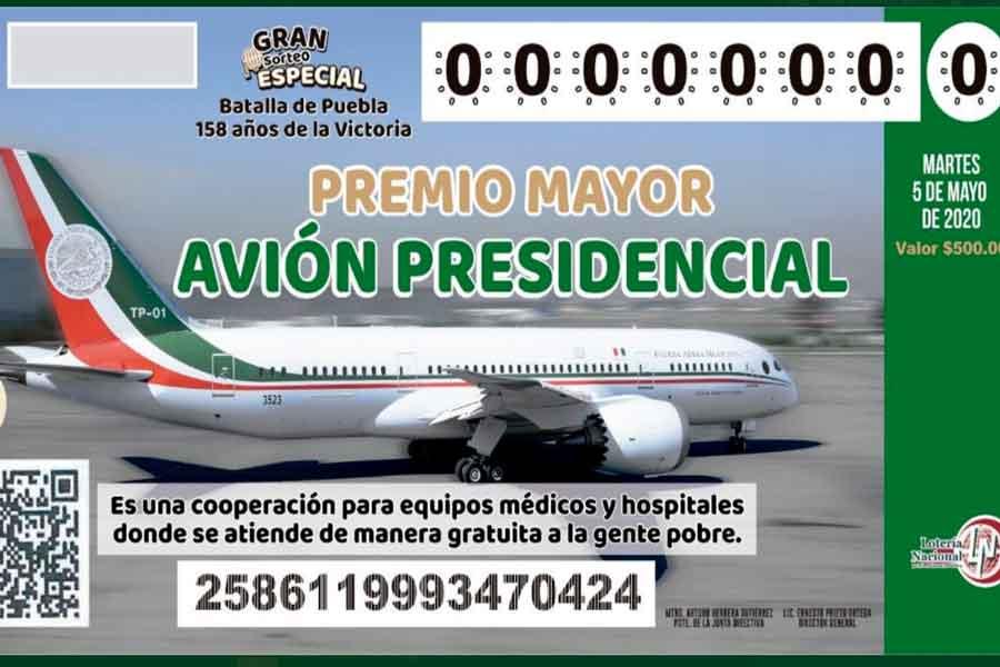 Se desploma el valor del avión presidencial, pasa de 130 mdd a 72 mdd