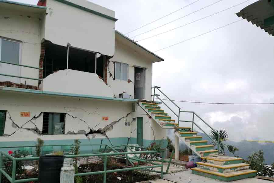 Siete hospitales dañados por el sismo en Oaxaca