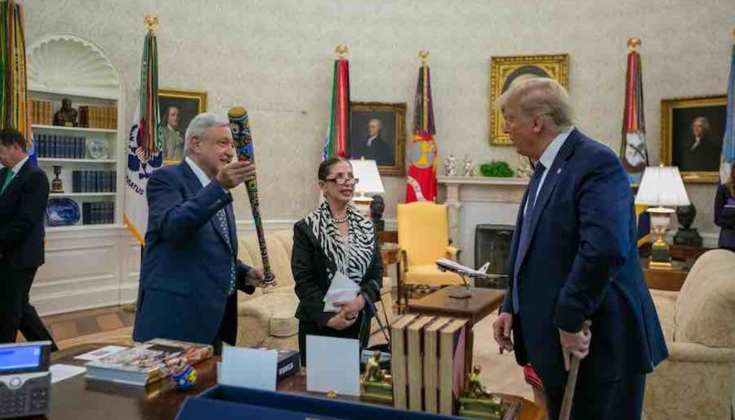 AMLO y Trump Casa Blanca
