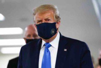 Donald Trump cubrebocas