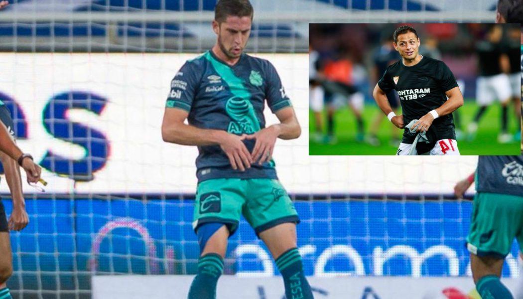 Ormeño, delantero de Puebla, anotó a lo 'Chicharito'