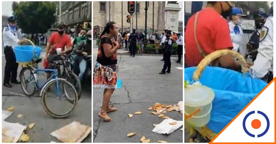 #Viral: Policías agreden a Lady Tacos; ciudadanos la rescatan