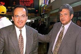 AMLO y Calderón