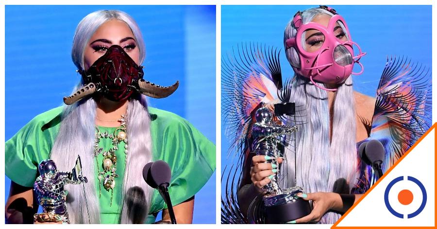 #Viral: Lady Gaga rompe internet con increíbles cubrebocas… 4 modelazos