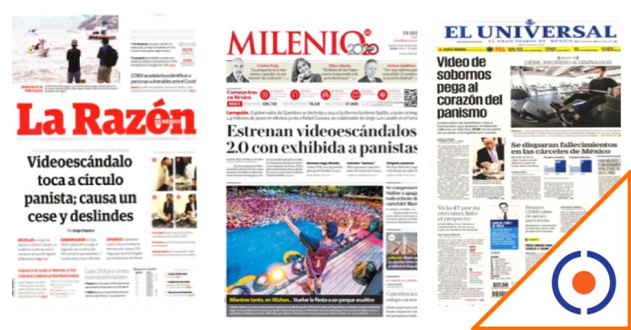 #Gobierno: El presidente critica a la prensa por no dar importancia a video, pero diarios lo traen en portada