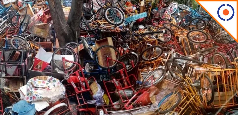 #CDMX: Alcalde de Miguel Hidalgo decomisa 140 triciclos de comida