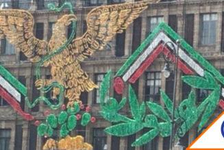 #CDMX: Colocan  logo de Morena en el Zócalo