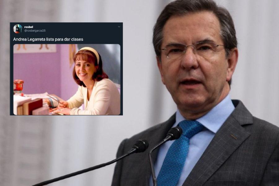 Las redes se burlan de Andrea Legarreta tras anuncio del Secretario de Educación