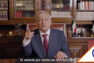 #Spot: Andrés Manuel asegura estar respaldado por 70% de los mexicanos