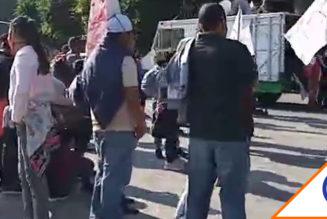 #Informe: Protestan antorchistas en Palacio Nacional