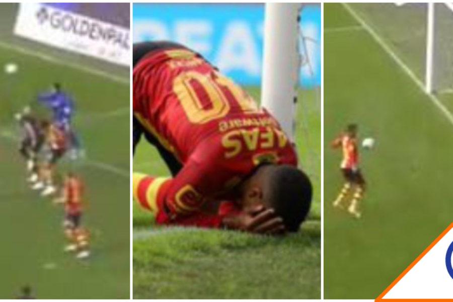 #Viral: La increíble falla sin portero en la Liga de Bélgica… ¡Osote!