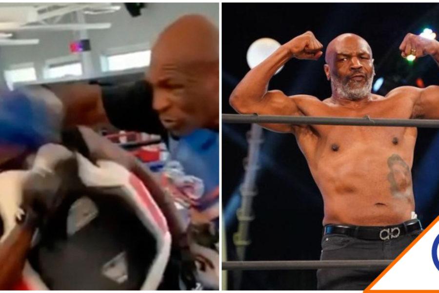 #Viral: Mike Tyson da brutal derechazo a su entrenador… ¡Lo mandó a dormir!