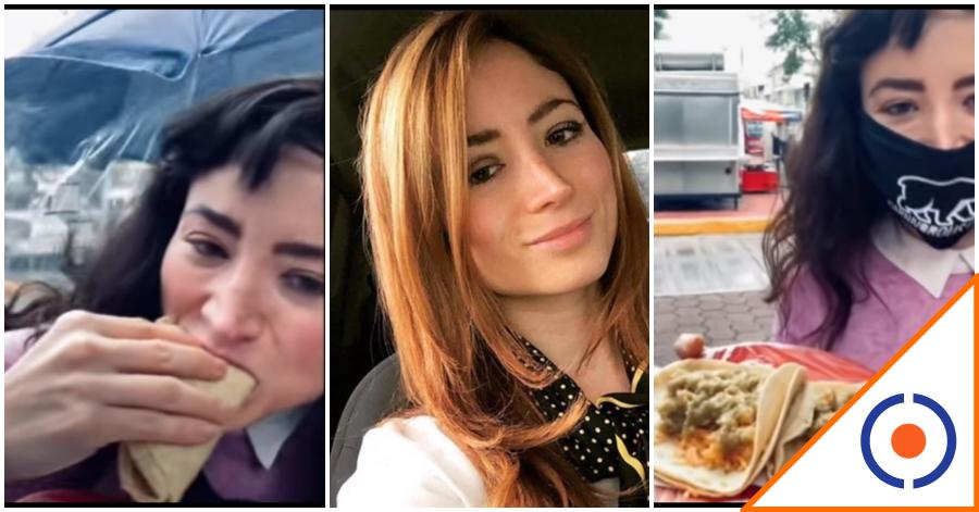 #Lady3Pesos: Reaparece comiendo tacos de chicharrón… Busca el perdón
