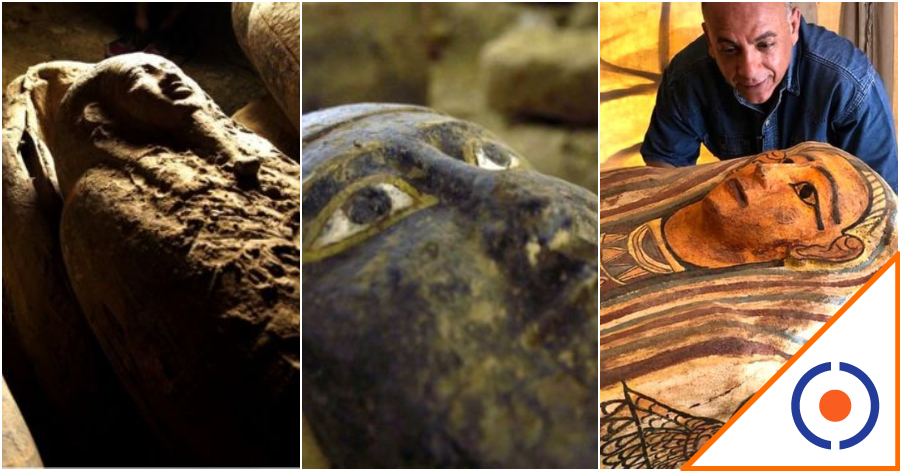 #Viral: Descubren en Egipto 27 sarcófagos de hace 2. 500 años