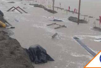 #DosBocas: Se inunda refinería, gobierno dice son encharcamientos