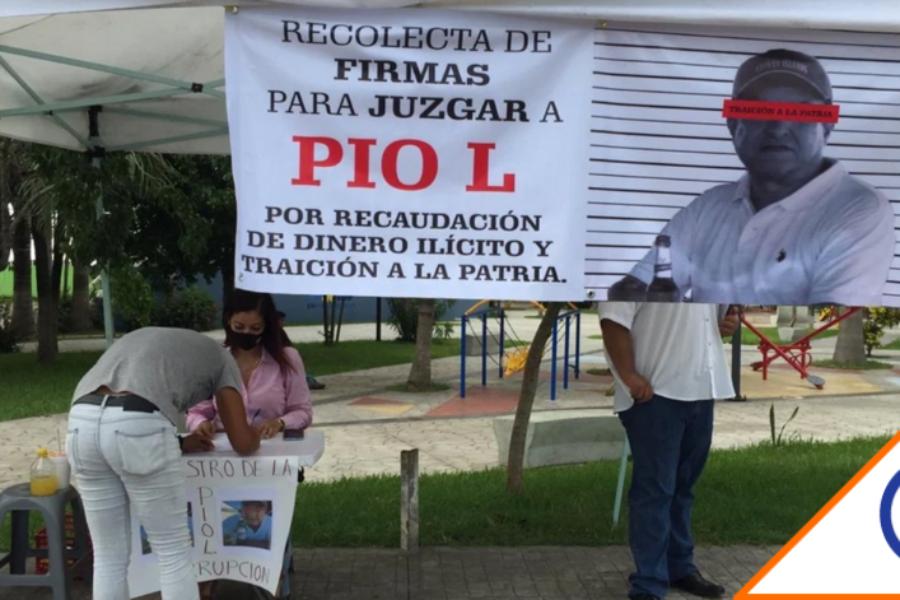 #Corrupción: Recaban firmas para que se investigue a Pío López Obrador