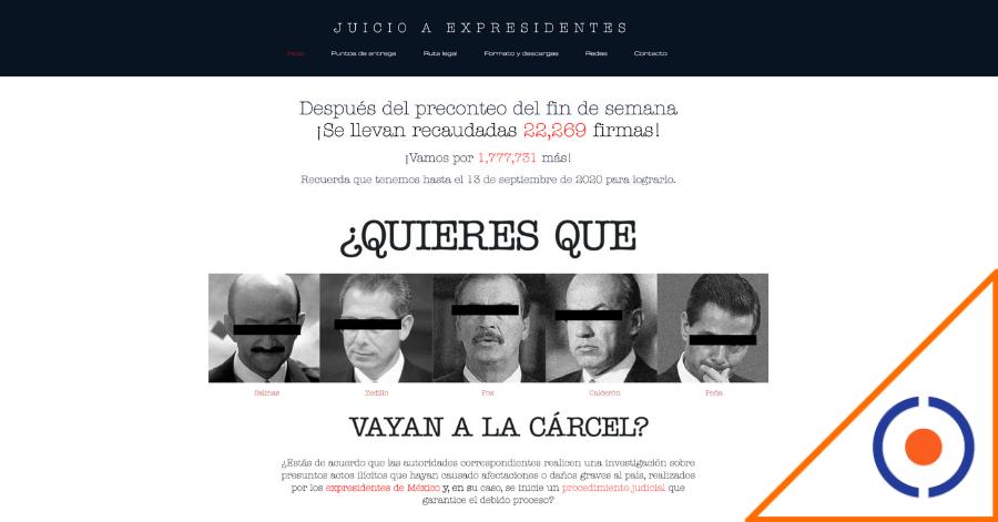 #Corrupción: Con sitio web empujan consulta para juzgar a expresidentes