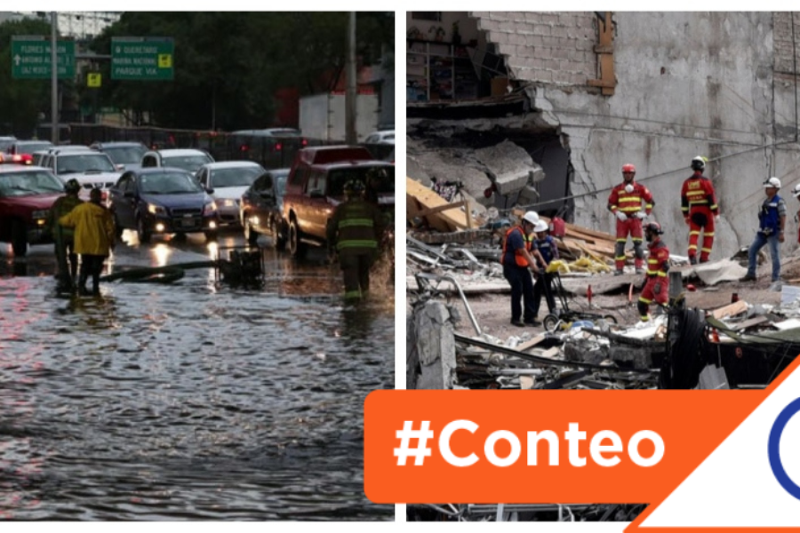 #Conteo: 12 alcaldías con más riesgos en sismos e inundaciones en la CDMX