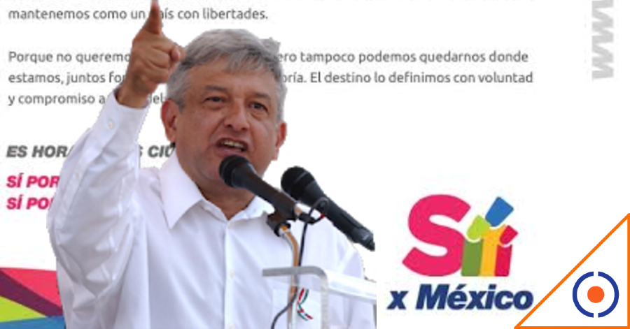 #SíXMéxico: López Obrador reconoce llegada de FRENAAA 2, movimiento propositivo