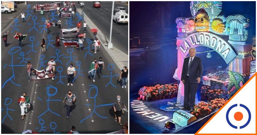 #Yolo: Redes crean #LaMarchaDelChillón y se burlan de raquítica marcha pro Obrador