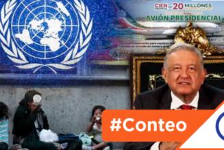 #Conteo: 7 temas en los que Obrador utiliza a la ONU para salirse por la tangente