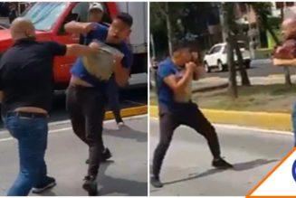 #HayTiro: Automovilistas se pelean en carril del Metrobús… ¡Visit CDMX!