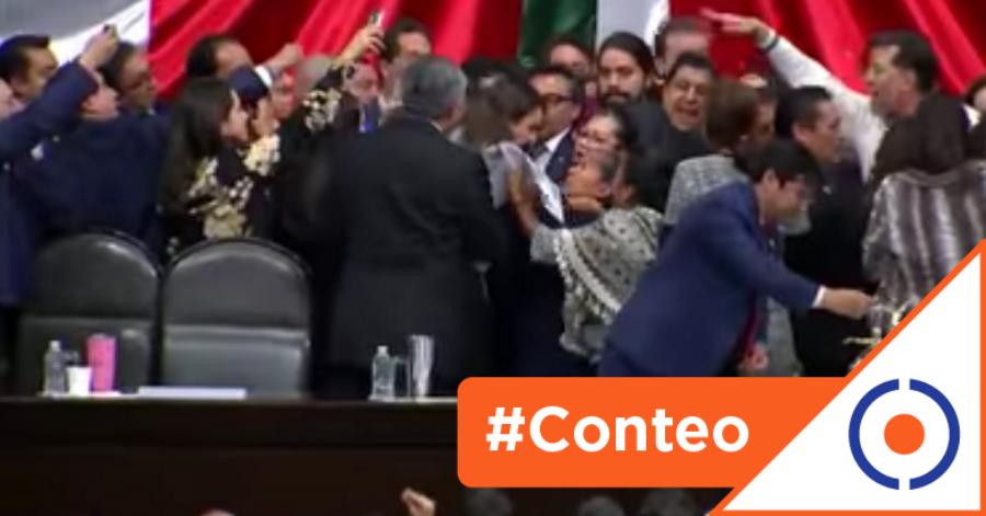 #Conteo: 7 lamentables peleas en el Congreso mexicano para dirimir diferencias
