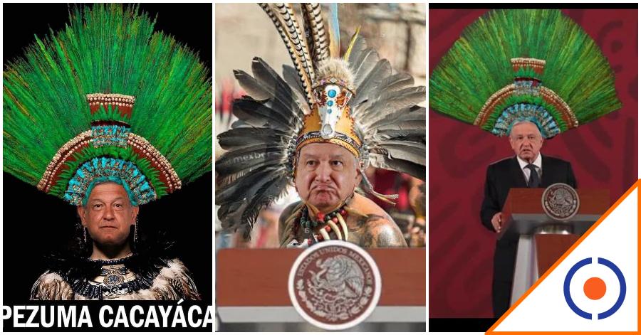 #Viral: Los mejores memes de Obrador con el Penacho de Moctezuma