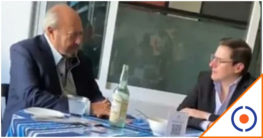 #Infraganti: Cachan a Romero Deschamps comiendo con funcionario de Pemex… ¿Sigue la corrupción?