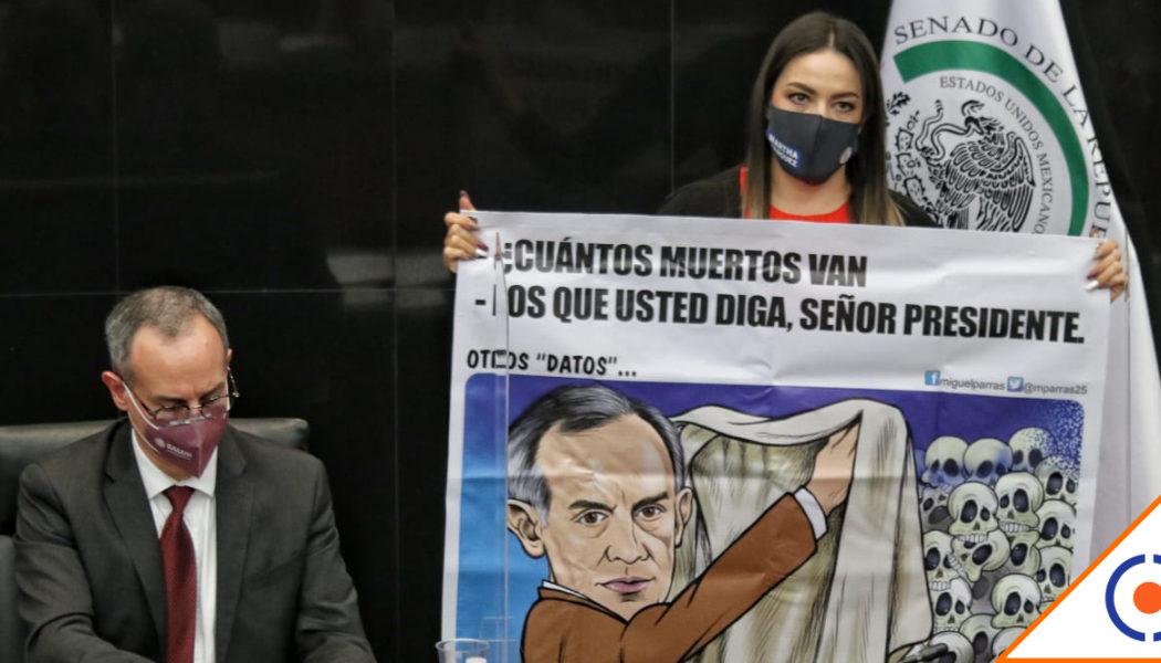#Covid19: Senadores critican a López-Gattel durante comparecencia