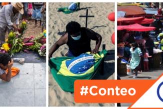 #Conteo: 6 países de América Latina con más muertes per cápita por coronavirus