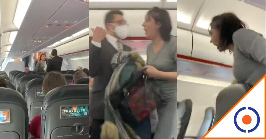 #Viral: Pasajera tose sin cubrebocas y la bajan del avión