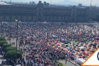 #FRENAAA: 173 mil almas cimbran Palacio Nacional, el Presidente se tiene que ir