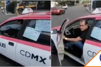 #Viral: Exhiben a taxista prepotente mientras se vuela un alto… ¿Y los polis, apá?