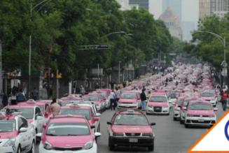 #CDMX: Taxistas protestan contra apps de movilidad, han perdido 60% de clientes
