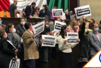 #Congreso: Oposición descubre trampa de Morena y se agarran a golpes en el Pleno