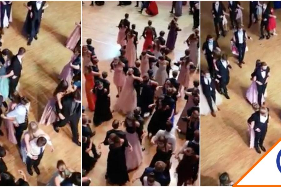 #Viral: Jóvenes bailan vals de espaldas y vuelan en la red… La nueva normalidad