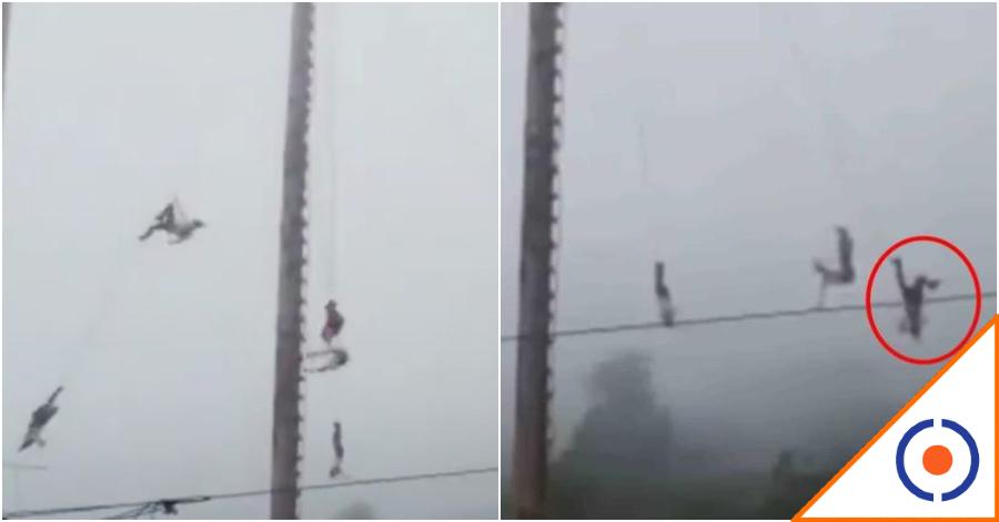 #OMG: Volador de Papantla cae de más de 10 mts… Se recomienda discreción