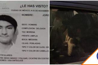#NosFaltaJorge: Hallan con vida a estudiante de Prepa 5 desaparecido hace 10 días