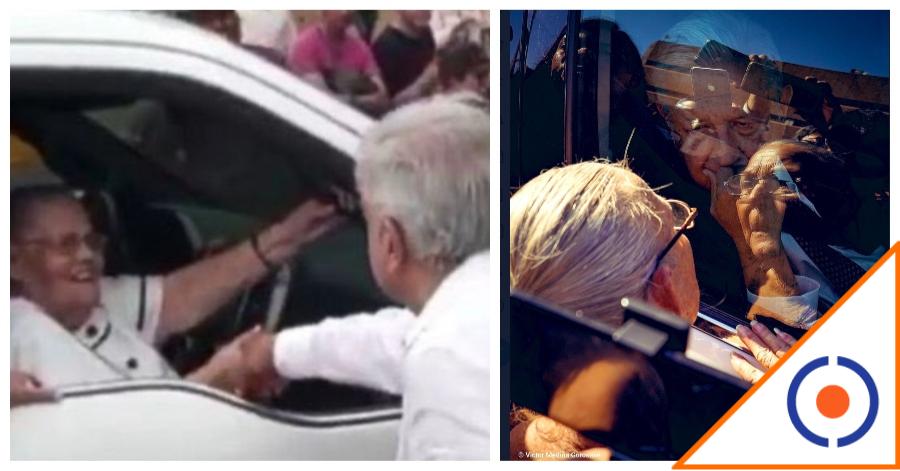 #HayNiveles: Obrador ignora a mamá de pescador preso, con la del Chapo se cuadró