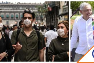 #Encuesta: El 77% de los capitalinos reprueba que Obrador no use cubrebocas