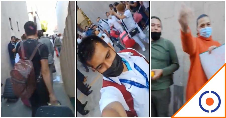#Covid19: Médicos que vienen a salvar a la CDMX salen entre aplausos… ¡Héroes!