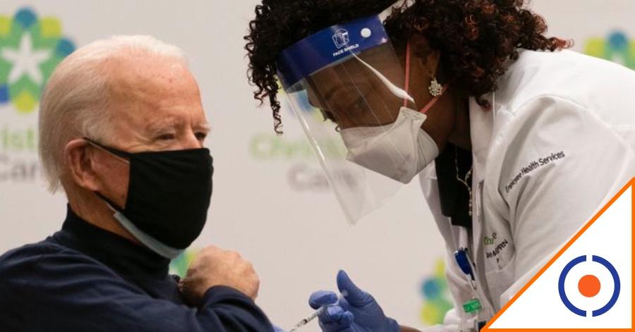 #Covid19: Biden, primer presidente de América en vacunarse… segundo en el mundo