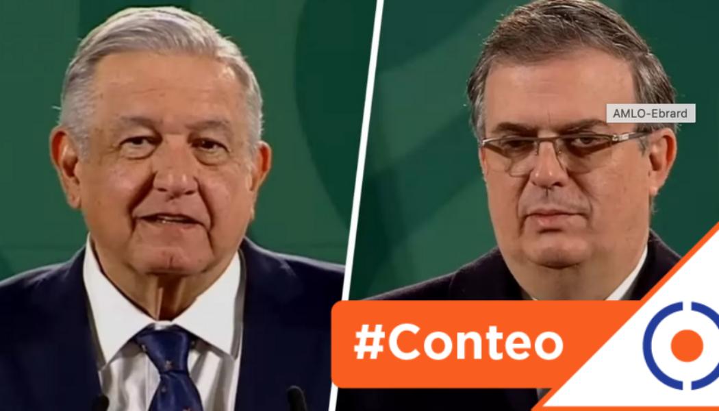 #Conteo: 10 frases de Obrador y Ebrard sobre la exoneración de Cienfuegos