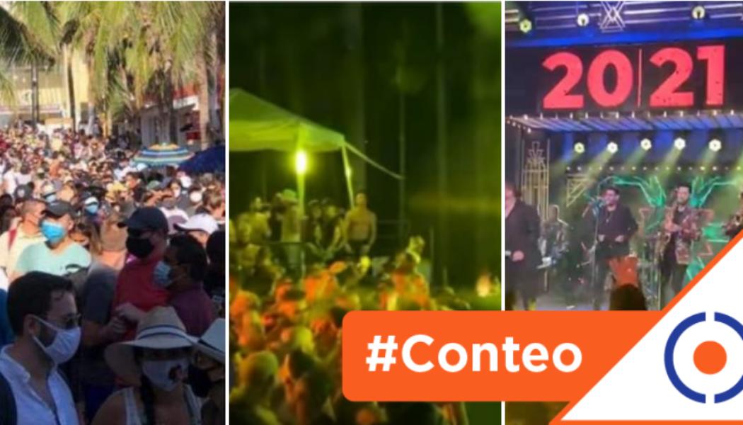 #Conteo: 6 estados en donde hubo fiestas masivas por la llegada de Año Nuevo 2021