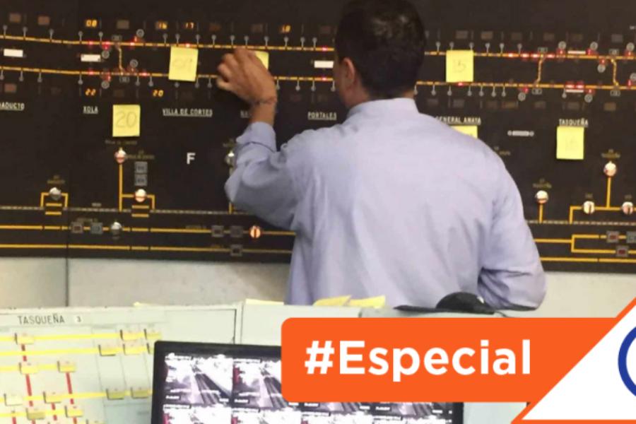 #Especial: El PCC del Metro operaba tránsito de convoyes con 'post-it' y ahora a ciegas