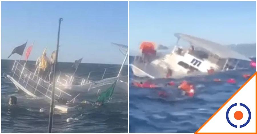 #Susto: Se hunde embarcación con 60 turistas en Puerto Vallarta… El Titanic mexa